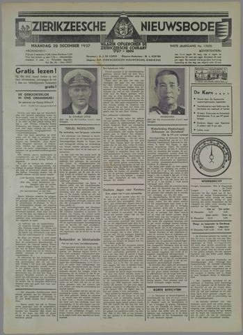 Zierikzeesche Nieuwsbode 1937-12-20