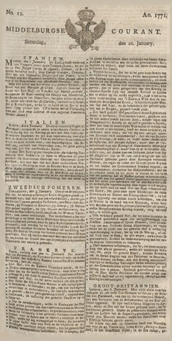 Middelburgsche Courant 1771-01-26