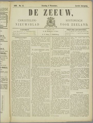 De Zeeuw. Christelijk-historisch nieuwsblad voor Zeeland 1886-11-09