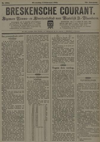 Breskensche Courant 1915-02-03
