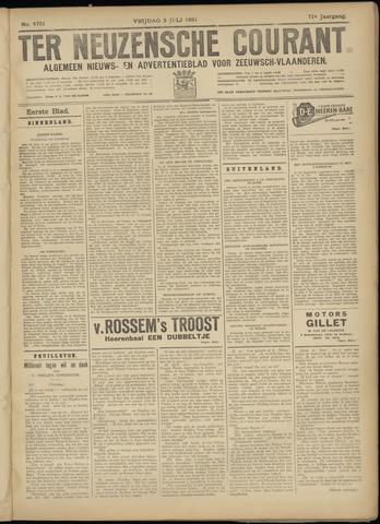 Ter Neuzensche Courant. Algemeen Nieuws- en Advertentieblad voor Zeeuwsch-Vlaanderen / Neuzensche Courant ... (idem) / (Algemeen) nieuws en advertentieblad voor Zeeuwsch-Vlaanderen 1931-07-03