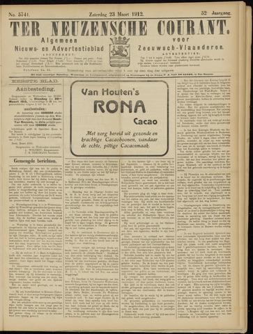 Ter Neuzensche Courant. Algemeen Nieuws- en Advertentieblad voor Zeeuwsch-Vlaanderen / Neuzensche Courant ... (idem) / (Algemeen) nieuws en advertentieblad voor Zeeuwsch-Vlaanderen 1912-03-23