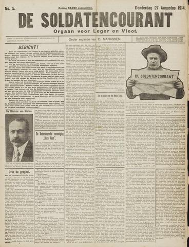 De Soldatencourant. Orgaan voor Leger en Vloot 1914-08-27