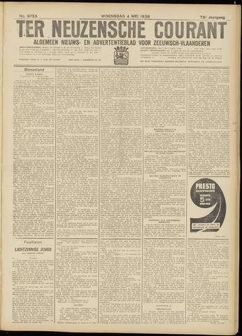 Ter Neuzensche Courant. Algemeen Nieuws- en Advertentieblad voor Zeeuwsch-Vlaanderen / Neuzensche Courant ... (idem) / (Algemeen) nieuws en advertentieblad voor Zeeuwsch-Vlaanderen 1938-05-04