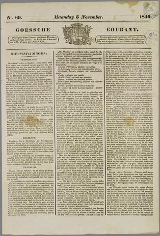Goessche Courant 1849-11-05