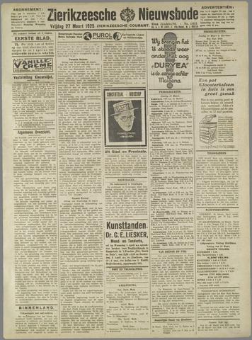 Zierikzeesche Nieuwsbode 1925-03-27