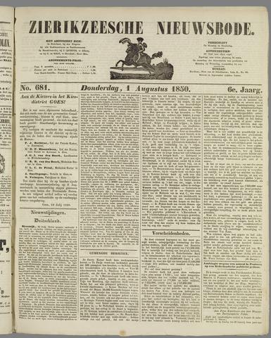 Zierikzeesche Nieuwsbode 1850-08-01