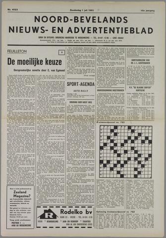 Noord-Bevelands Nieuws- en advertentieblad 1982-07-01