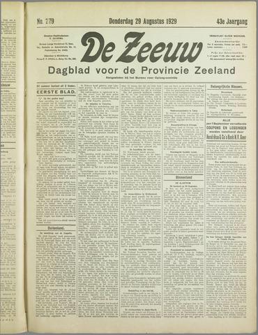 De Zeeuw. Christelijk-historisch nieuwsblad voor Zeeland 1929-08-29