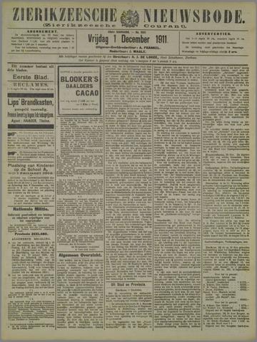 Zierikzeesche Nieuwsbode 1911-12-01