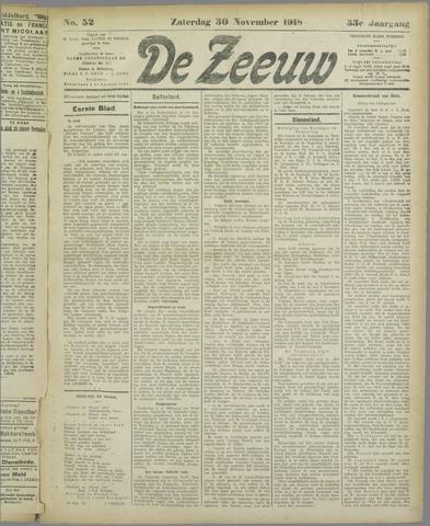 De Zeeuw. Christelijk-historisch nieuwsblad voor Zeeland 1918-11-30