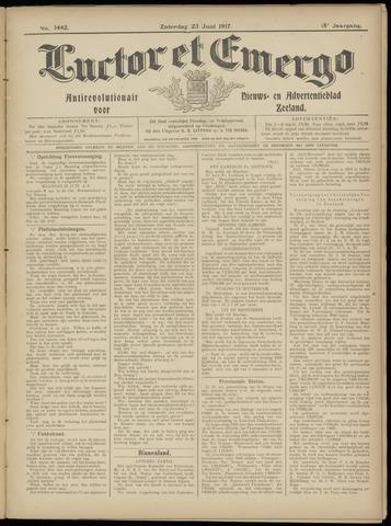 Luctor et Emergo. Antirevolutionair nieuws- en advertentieblad voor Zeeland / Zeeuwsch-Vlaanderen. Orgaan ter verspreiding van de christelijke beginselen in Zeeuwsch-Vlaanderen 1917-06-23
