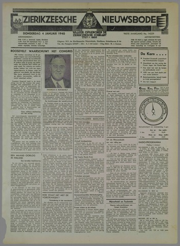 Zierikzeesche Nieuwsbode 1940-01-04
