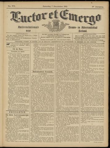 Luctor et Emergo. Antirevolutionair nieuws- en advertentieblad voor Zeeland / Zeeuwsch-Vlaanderen. Orgaan ter verspreiding van de christelijke beginselen in Zeeuwsch-Vlaanderen 1912-12-07