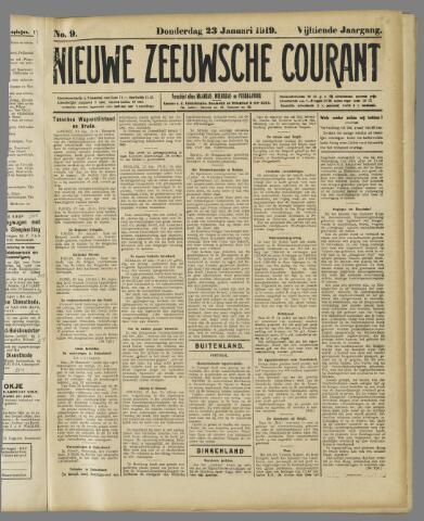 Nieuwe Zeeuwsche Courant 1919-01-23