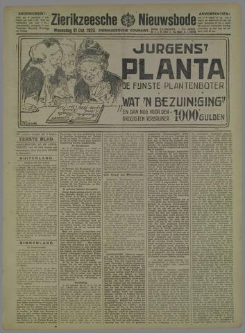 Zierikzeesche Nieuwsbode 1923-10-31