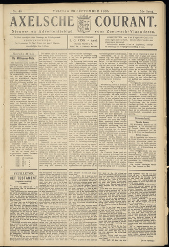 Axelsche Courant 1935-09-20