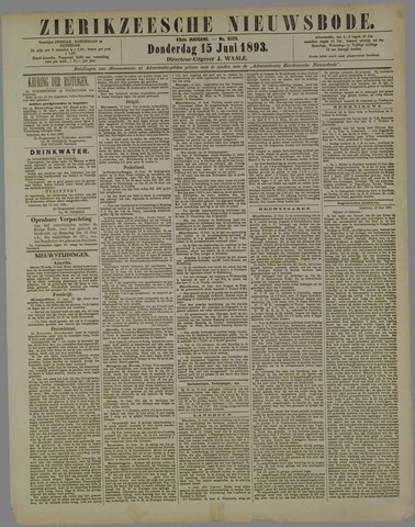 Zierikzeesche Nieuwsbode 1893-06-15