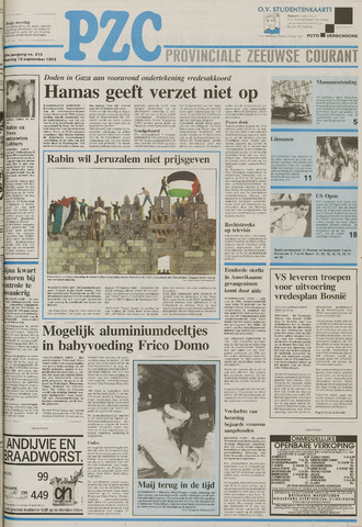 Provinciale Zeeuwse Courant 1993-09-13