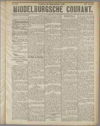 Middelburgsche Courant 1921-09-16