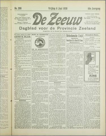 De Zeeuw. Christelijk-historisch nieuwsblad voor Zeeland 1930-06-06
