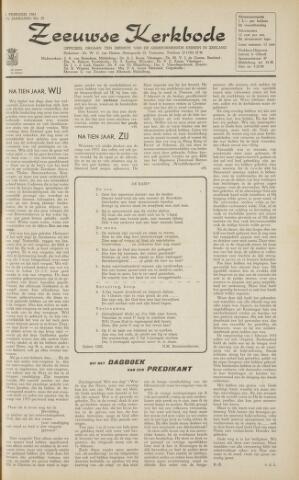 Zeeuwsche kerkbode, weekblad gewijd aan de belangen der gereformeerde kerken/ Zeeuwsch kerkblad 1963-02-01
