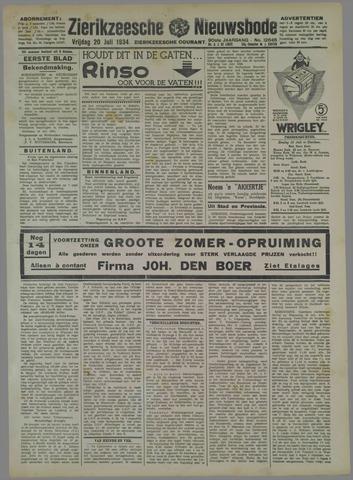 Zierikzeesche Nieuwsbode 1934-07-20