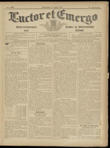 Luctor et Emergo. Antirevolutionair nieuws- en advertentieblad voor Zeeland / Zeeuwsch-Vlaanderen. Orgaan ter verspreiding van de christelijke beginselen in Zeeuwsch-Vlaanderen 1917-04-14