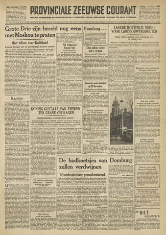 Provinciale Zeeuwse Courant 1950-11-10