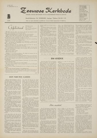 Zeeuwsche kerkbode, weekblad gewijd aan de belangen der gereformeerde kerken/ Zeeuwsch kerkblad 1970-06-18