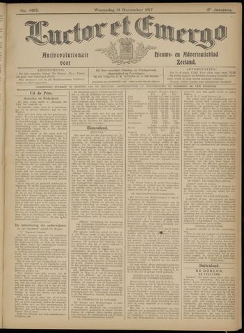 Luctor et Emergo. Antirevolutionair nieuws- en advertentieblad voor Zeeland / Zeeuwsch-Vlaanderen. Orgaan ter verspreiding van de christelijke beginselen in Zeeuwsch-Vlaanderen 1917-11-14
