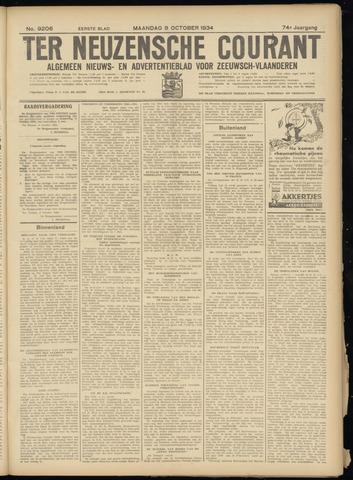 Ter Neuzensche Courant. Algemeen Nieuws- en Advertentieblad voor Zeeuwsch-Vlaanderen / Neuzensche Courant ... (idem) / (Algemeen) nieuws en advertentieblad voor Zeeuwsch-Vlaanderen 1934-10-08