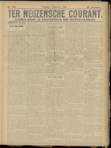 Ter Neuzensche Courant. Algemeen Nieuws- en Advertentieblad voor Zeeuwsch-Vlaanderen / Neuzensche Courant ... (idem) / (Algemeen) nieuws en advertentieblad voor Zeeuwsch-Vlaanderen 1923-02-02