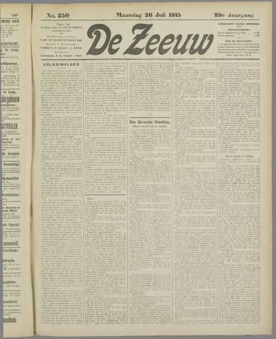 De Zeeuw. Christelijk-historisch nieuwsblad voor Zeeland 1915-07-25