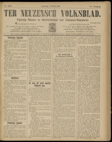 Ter Neuzensch Volksblad. Vrijzinnig nieuws- en advertentieblad voor Zeeuwsch- Vlaanderen / Zeeuwsch Nieuwsblad. Nieuws- en advertentieblad voor Zeeland 1916-03-04