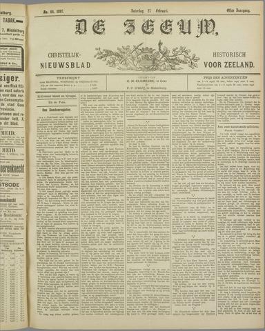 De Zeeuw. Christelijk-historisch nieuwsblad voor Zeeland 1897-02-27
