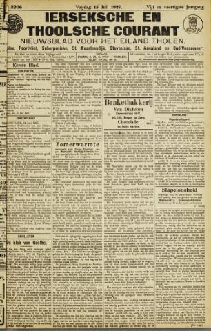 Ierseksche en Thoolsche Courant 1927-07-15