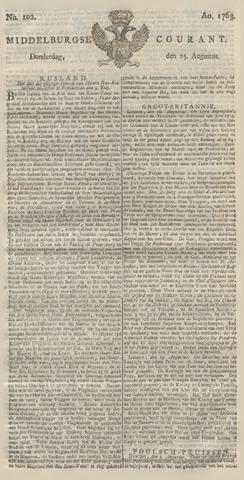 Middelburgsche Courant 1763-08-25