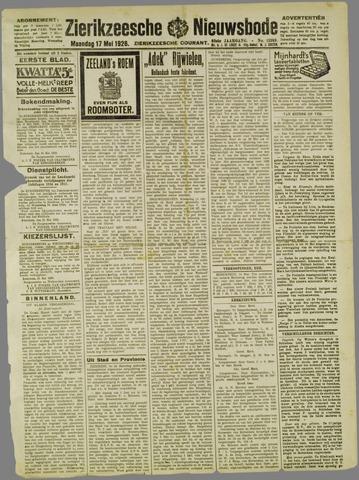 Zierikzeesche Nieuwsbode 1926-05-17