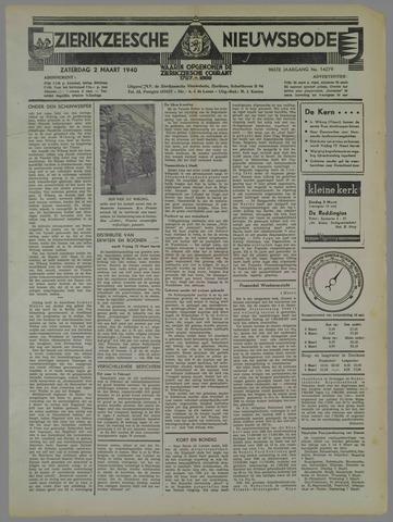 Zierikzeesche Nieuwsbode 1940-03-02