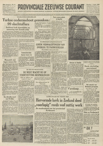 Provinciale Zeeuwse Courant 1953-04-07