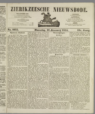 Zierikzeesche Nieuwsbode 1854-01-16