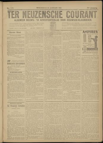 Ter Neuzensche Courant. Algemeen Nieuws- en Advertentieblad voor Zeeuwsch-Vlaanderen / Neuzensche Courant ... (idem) / (Algemeen) nieuws en advertentieblad voor Zeeuwsch-Vlaanderen 1931-01-21