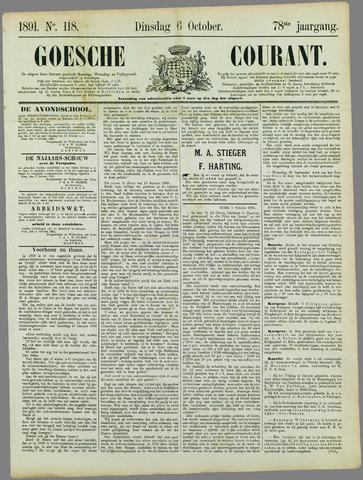 Goessche Courant 1891-10-06