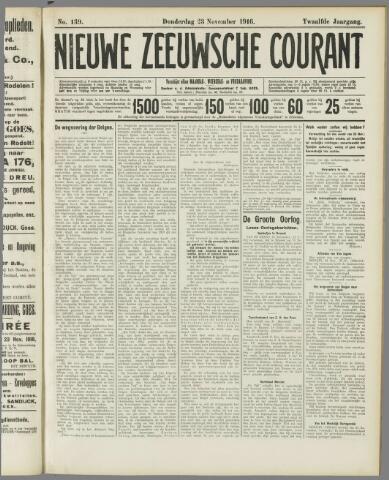 Nieuwe Zeeuwsche Courant 1916-11-23