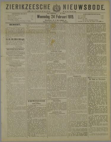 Zierikzeesche Nieuwsbode 1915-02-24