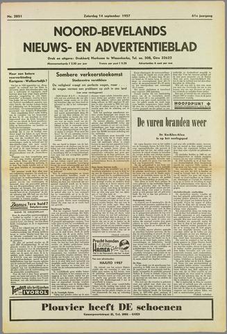 Noord-Bevelands Nieuws- en advertentieblad 1957-09-14