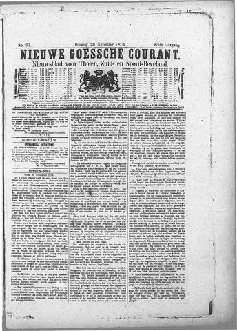 Nieuwe Goessche Courant 1876-11-28