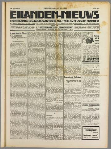 Eilanden-nieuws. Christelijk streekblad op gereformeerde grondslag 1938-04-06