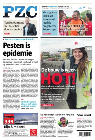 Provinciale Zeeuwse Courant 2015-06-01